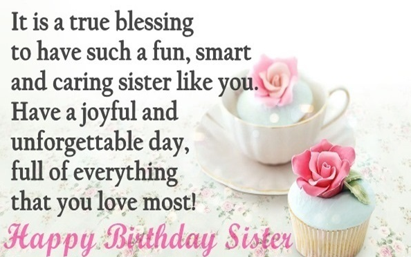 Top 250 Birthday Wishes and Messages for Sisters | Happy ...
