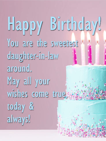 Pleasant Birthday Wishes For Daughter In Law Birthday Quotes Funny Birthday Cards Online Drosicarndamsfinfo